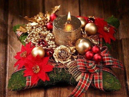 Stroik bożonarodzeniowy ze świecą 10